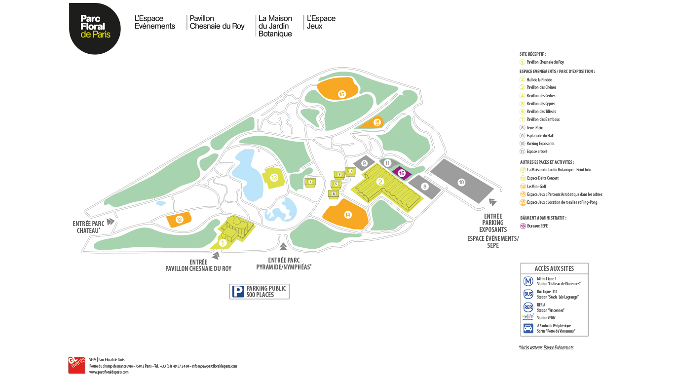 Plan du Parc Floral | Drupal